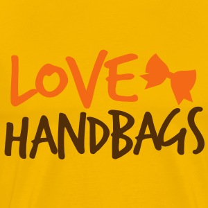 LOVE HANDBAGS bow  T-Shirts - Men's Premium T-Shirt