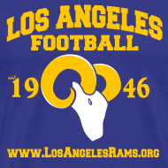 Design ~ Los Angeles Football T-Shirt (Royal Blue)