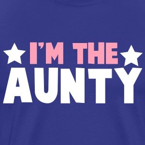 new i'm the aunty aunt with cute little stars T-Shirts - Men's Premium T-Shirt