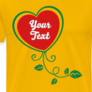 Heart with Floral 1_2c T-Shirts - Men's Premium T-Shirt