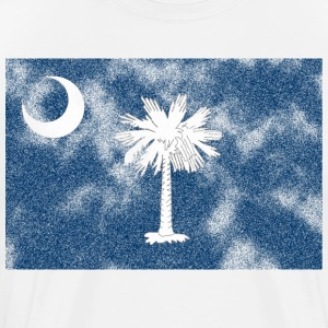Aged South Carolina flag - Men's Premium T-Shirt