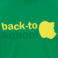BACK TO SCHOOL with green apple T-Shirts