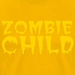 zombie child with bloody font red T-Shirts - Men's Premium T-Shirt