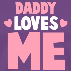 DADDY LOVES ME with little hearts T-Shirts - Men's Premium T-Shirt
