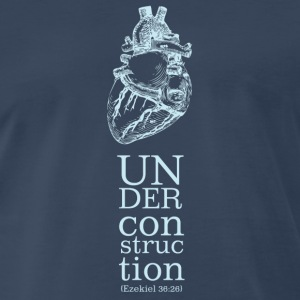 Heart Under Construction_Midnight Blue - Men's Premium T-Shirt