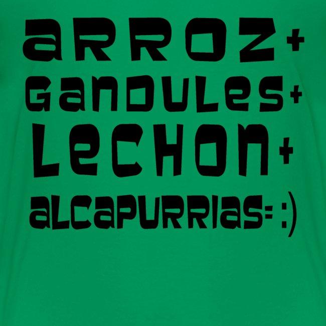 ARROZ+ GANDULES+ LECHON+ ALCAPURRIAS= :) KIDS
