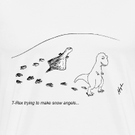 Design ~ T-Rex Trying To Make A Snow Angel