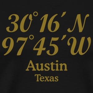 Austin, Texas Coordinates T-Shirt (Gold) - Men's Premium T-Shirt