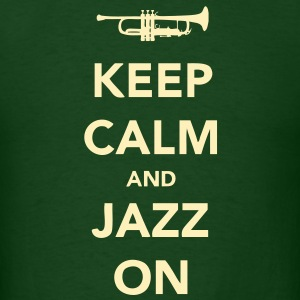Keep Calm And Jazz On - Trumpet T-Shirts - Men's T-Shirt