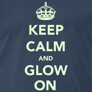 Keep Calm and Glow On T-Shirts - Men's Premium T-Shirt
