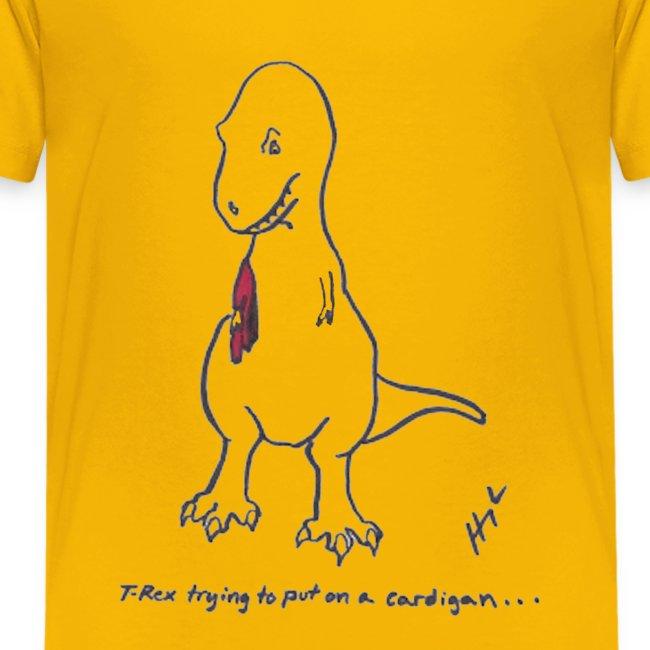 T-Rex Trying Cardigan (Kids)