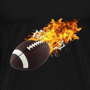 Flaming Football T-Shirts - Men's Premium T-Shirt