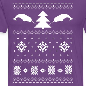 Narwhal Christmas Sweater T-Shirts - Men's Premium T-Shirt