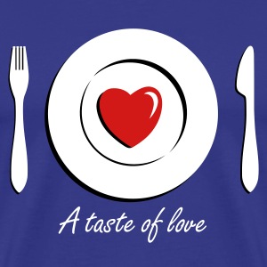 Love Dinner - Eat Heart 3c T-Shirts - Men's Premium T-Shirt