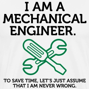 I Am A Mechanical Engineer 2 (2c)++ T-shirts (manches courtes) - T-shirt premium pour hommes