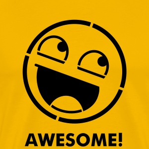 Awesome Smiley Stencil 1c T-Shirts - Men's Premium T-Shirt