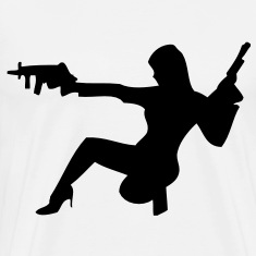 darr girl with guns T-Shirts