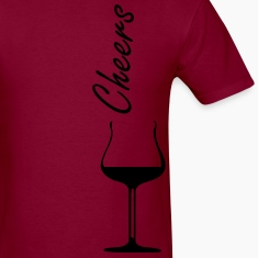 Cheers wine glass Men's Heavyweight T-Shirt