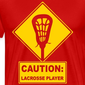 Caution: Lacrosse Player T-Shirts - Men's Premium T-Shirt