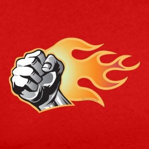 Flaming Fist - Men's Premium T-Shirt