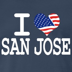 i love san jose - white T-Shirts