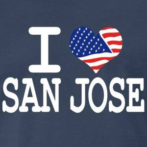i love san jose - white T-Shirts - Men's Premium T-Shirt
