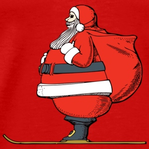 Santa Claus Skiing - Men's Premium T-Shirt
