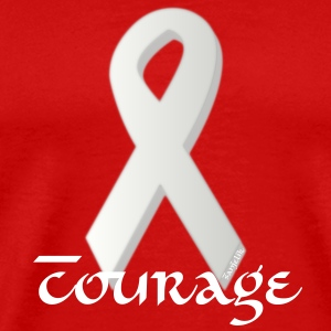 Lung Cancer Awareness - Men - Men's Premium T-Shirt