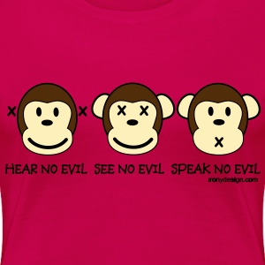 Three Wise Monkeys - Women's Premium T-Shirt