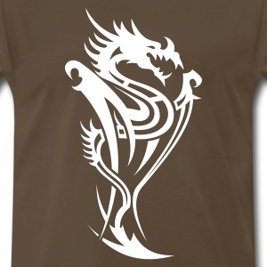 Dragon Tribal Tattoo 14 T-Shirts - Men's Premium T-Shirt
