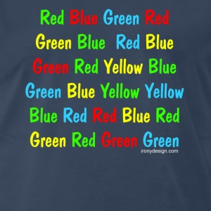 The Stroop Test - Men's Premium T-Shirt