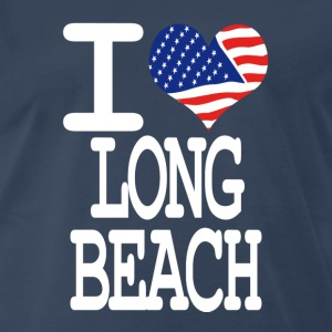 i love long beach - white T-Shirts - Men's Premium T-Shirt