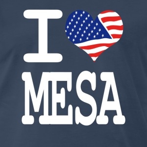 i love mesa - white T-Shirts - Men's Premium T-Shirt