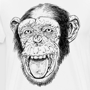 Happy Chimp HD Design T-Shirts - Men's Premium T-Shirt