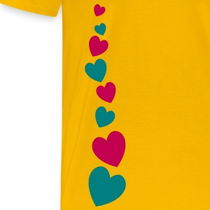 love heart line going down lovely! T-Shirts - Men's Premium T-Shirt