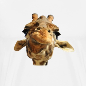 Chewing Giraffe  - Men's Premium T-Shirt