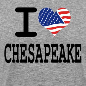 i love chesapeake - white T-Shirts - Men's Premium T-Shirt