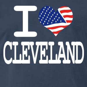 i love cleveland - white T-Shirts - Men's Premium T-Shirt