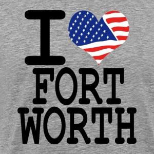i love fort worth T-Shirts - Men's Premium T-Shirt