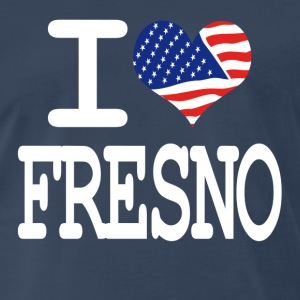 i love fresno - white T-Shirts - Men's Premium T-Shirt