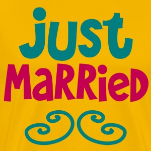 JUST MARRIED great shirt for newlyweds T-Shirts - Men's Premium T-Shirt