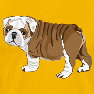 Bulldog Puppy - Men's Premium T-Shirt
