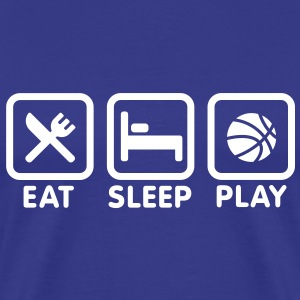 Eat Sleep Play Basketball T-Shirts - Men's Premium T-Shirt