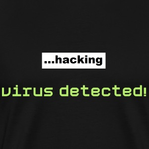virus detected - Men's Premium T-Shirt