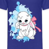 Design ~ Cute Kawaii Snowball the Bunny Childrens T-shirt