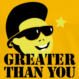 GREATER THAN YOU North korean Dictator Kim Jong il Death T-Shirts - Men's Premium T-Shirt