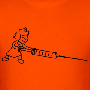 nurse_with_syringe_orig T-Shirts - Men's T-Shirt