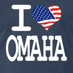i love omaha - white T-Shirts - Men's Premium T-Shirt