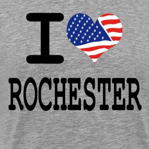 i love rochester - white T-Shirts - Men's Premium T-Shirt
