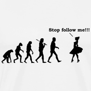 stop follow me - Men's Premium T-Shirt